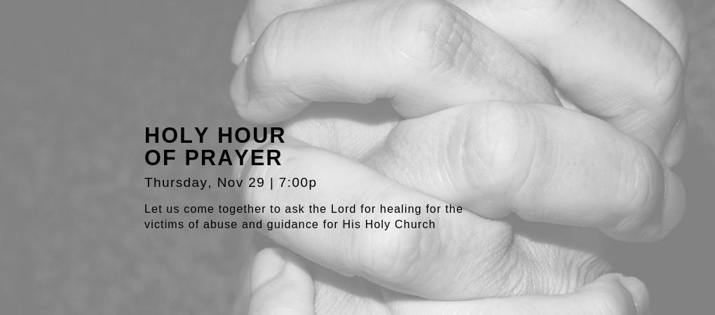 Holy Hour of Prayer