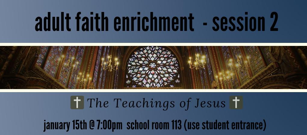 Adult faith enrichment